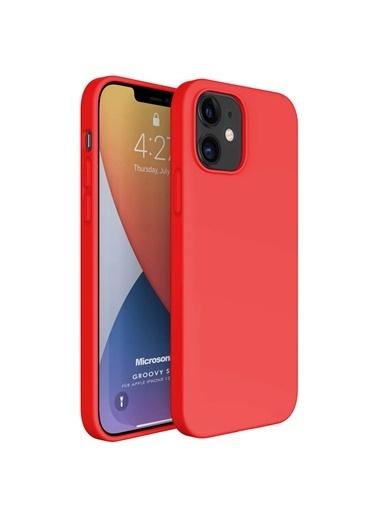 Microsonic Apple iPhone 12 Mini Kılıf Groovy Soft Kırmızı